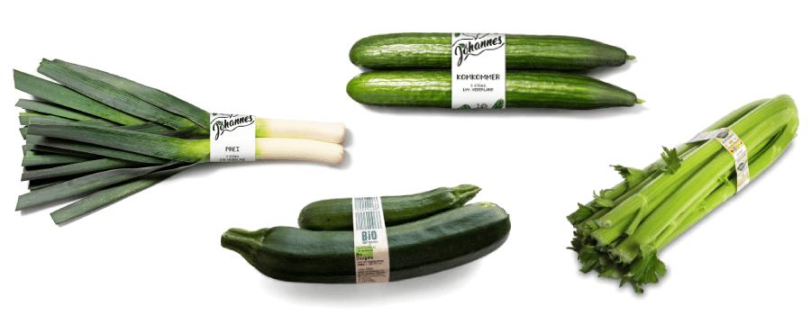 faja como embalaje para verduras