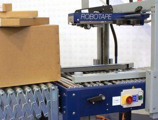 precintadora semiautomática para cajas de cartón
